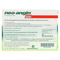 Neo-Angin Benzocain dolo zuckerfrei 24 Stück N1 - Rückseite