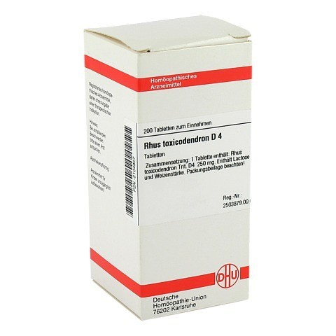 RHUS TOXICODENDRON D 4 Tabletten 200 Stück N2