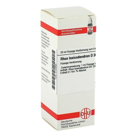 RHUS TOXICODENDRON D 30 Dilution 20 Milliliter N1