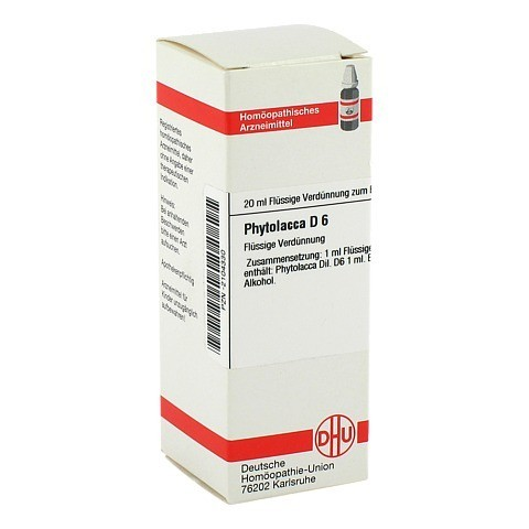 PHYTOLACCA D 6 Dilution 20 Milliliter N1