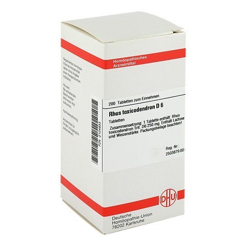 RHUS TOXICODENDRON D 6 Tabletten 200 Stück N2
