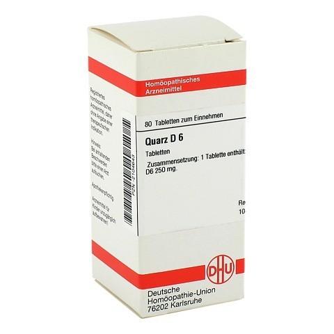 QUARZ D 6 Tabletten 80 Stück