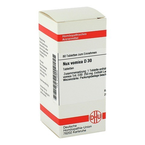 NUX VOMICA D 30 Tabletten 80 Stück
