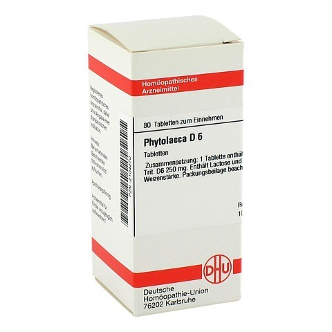 PHYTOLACCA D 6 Tabletten 80 Stück N1