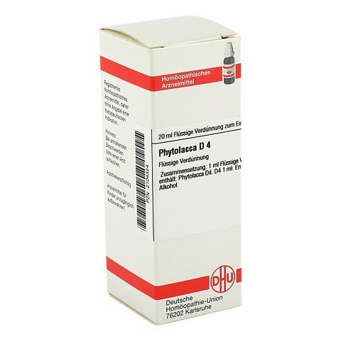 PHYTOLACCA D 4 Dilution 20 Milliliter N1