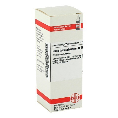 RHUS TOXICODENDRON D 20 Dilution 20 Milliliter N1