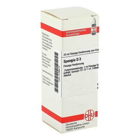 SPONGIA D 3 Dilution 20 Milliliter N1