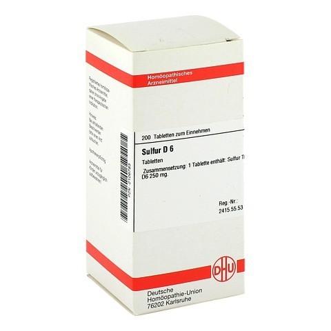 SULFUR D 6 Tabletten 200 Stück N2