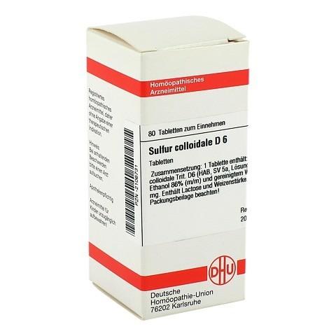 SULFUR COLLOIDALE D 6 Tabletten 80 Stück N1