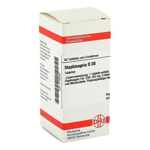 STAPHISAGRIA D 30 Tabletten 80 Stück