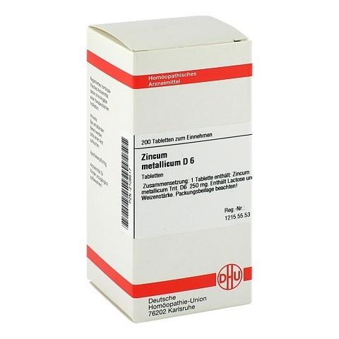 ZINCUM METALLICUM D 6 Tabletten 200 Stück N2
