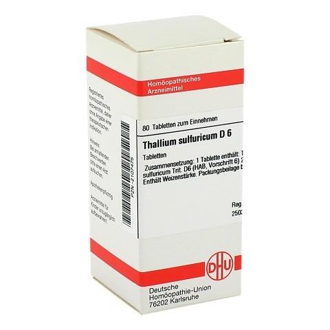 THALLIUM SULF. D 6 Tabletten 80 Stück N1