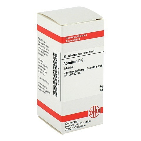 ACONITUM D 6 Tabletten 80 Stück N1