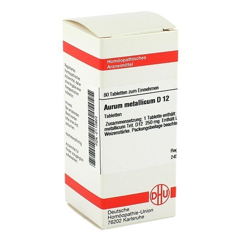 AURUM METALLICUM D 12 Tabletten 80 Stück N1