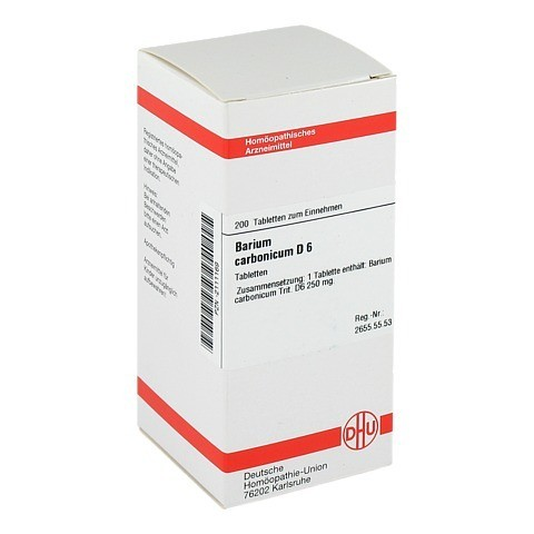BARIUM CARBONICUM D 6 Tabletten 200 Stück N2