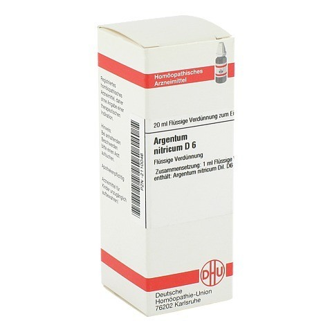 ARGENTUM NITRICUM D 6 Dilution 20 Milliliter N1