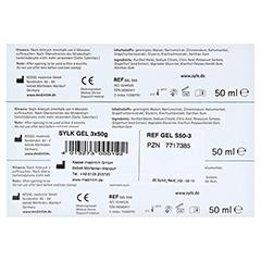 SYLK natürliches Gleitmittel Gel 3x50 Milliliter - Unterseite