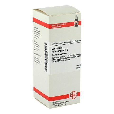 CAUSTICUM HAHNEMANNI D 3 Dilution 50 Milliliter N1