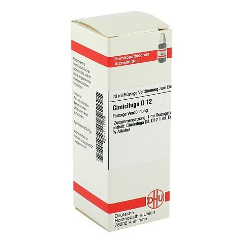 CIMICIFUGA D 12 Dilution 20 Milliliter N1