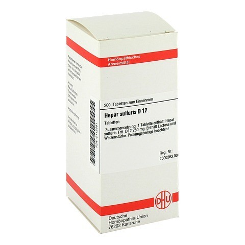 HEPAR SULFURIS D 12 Tabletten 200 Stück N2