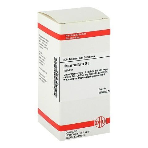 HEPAR SULFURIS D 6 Tabletten 200 Stück N2