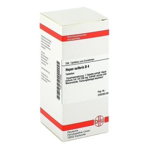 HEPAR SULFURIS D 4 Tabletten 200 Stück N2