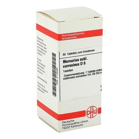 MERCURIUS SUBLIMATUS corrosivus D 6 Tabletten 80 Stück N1