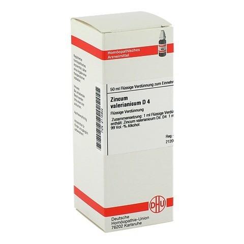 ZINCUM VALERIANICUM D 4 Dilution 50 Milliliter N1