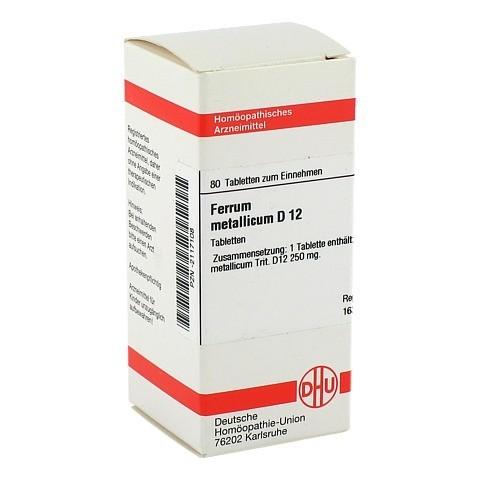 FERRUM METALLICUM D 12 Tabletten 80 Stück N1