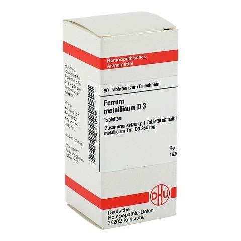 FERRUM METALLICUM D 3 Tabletten 80 Stück N1