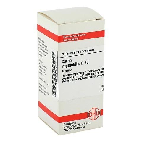 CARBO VEGETABILIS D 30 Tabletten 80 Stück