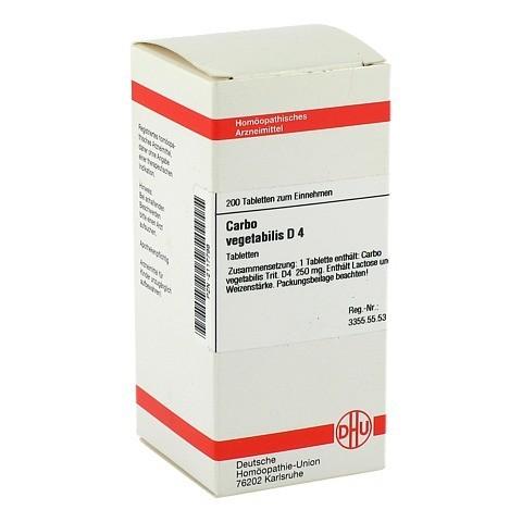 CARBO VEGETABILIS D 4 Tabletten 200 Stück N2