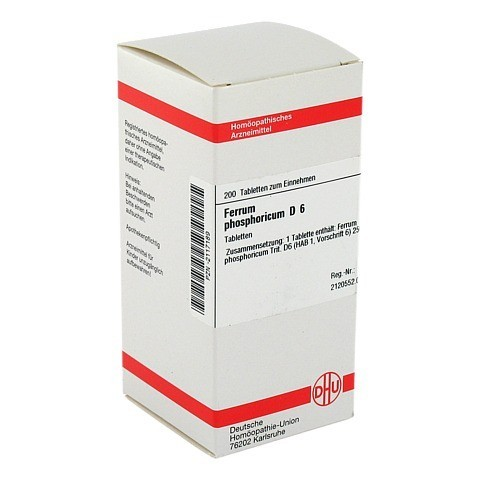 FERRUM PHOSPHORICUM D 6 Tabletten 200 Stück N2