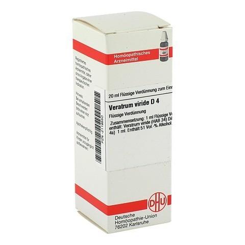 VERATRUM VIRIDE D 4 Dilution 20 Milliliter N1