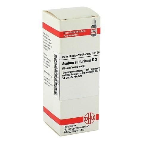 ACIDUM SULFURICUM D 3 Dilution 20 Milliliter N1