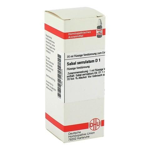 SABAL SERRULATUM D 1 Dilution 20 Milliliter N1