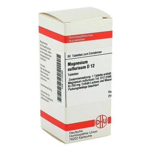 MAGNESIUM SULFURICUM D 12 Tabletten 80 Stück N1