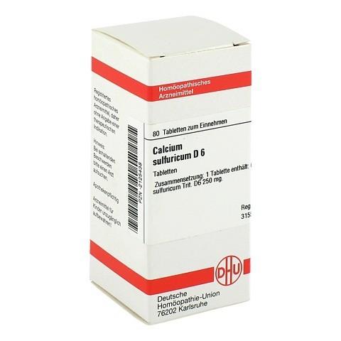 CALCIUM SULFURICUM D 6 Tabletten 80 Stück N1