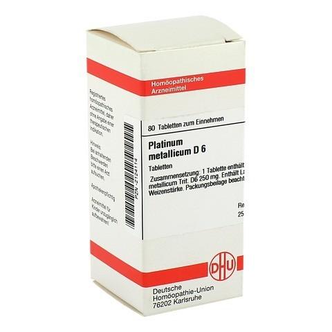 PLATINUM METALLICUM D 6 Tabletten 80 Stück N1