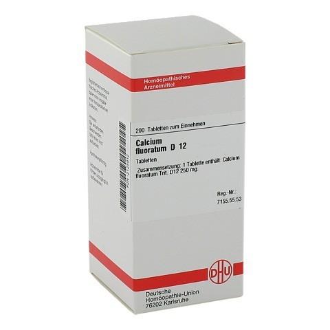 CALCIUM FLUORATUM D 12 Tabletten 200 Stück N2