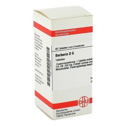 BERBERIS D 6 Tabletten 80 Stück N1