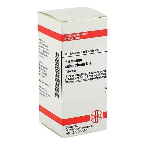 BISMUTUM SUBNITRICUM D 4 Tabletten 80 Stück N1