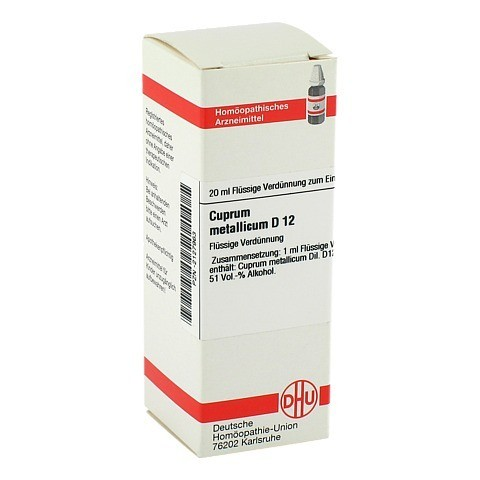 CUPRUM METALLICUM D 12 Dilution 20 Milliliter N1