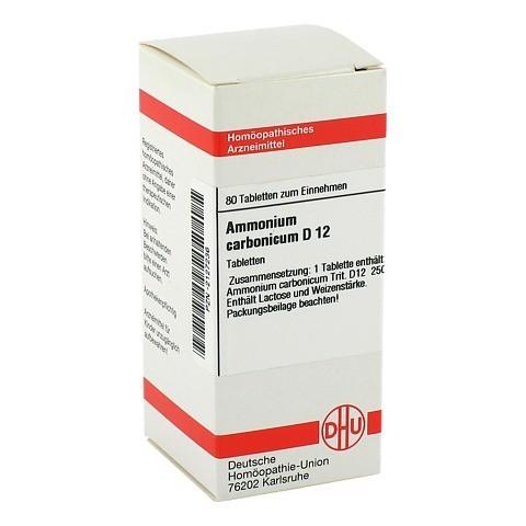 AMMONIUM CARBONICUM D 12 Tabletten 80 Stück N1