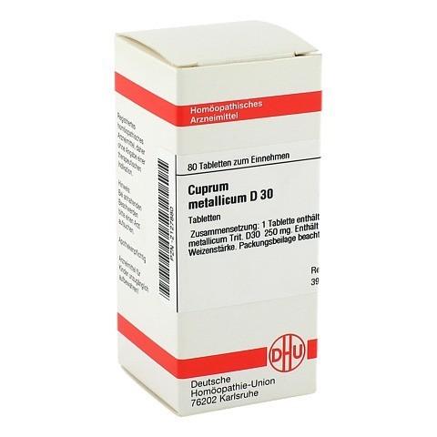 CUPRUM METALLICUM D 30 Tabletten 80 Stück
