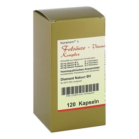 FOLSÄURE+VITAMIN B6+B12 Komplex Kapseln 120 Stück N1