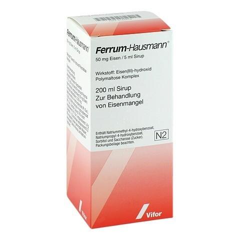 Ferrum Hausmann 50mg Eisen/5ml 200 Milliliter N2