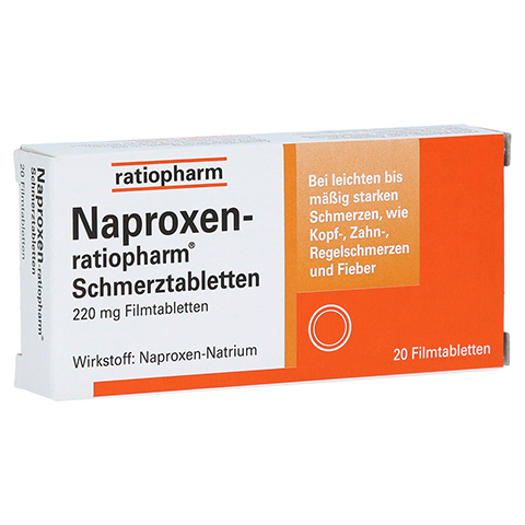 Naproxen-ratiopharm Schmerztabletten 20 Stück