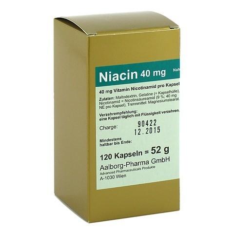 NIACIN 40 mg pro Kapsel 120 Stück