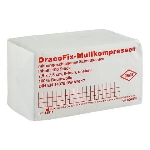 DRACOFIX OP-Kompressen 7,5x7,5 cm unsteril 8fach 100 Stück
